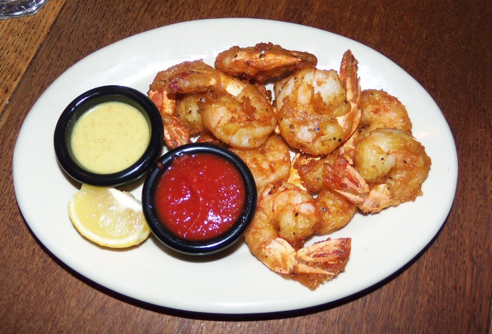 barely battered shrimp
