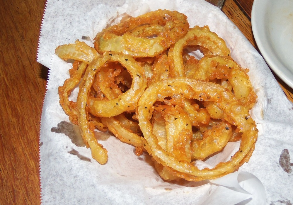 onion rings that are more onion than breading! yum!