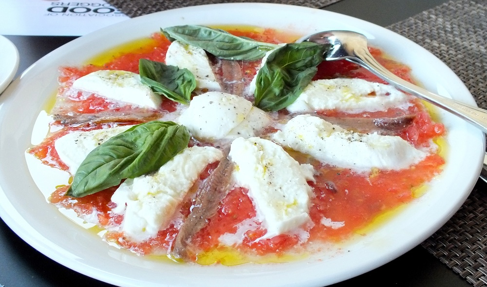 spectacular tasting caprese salad with anchovy