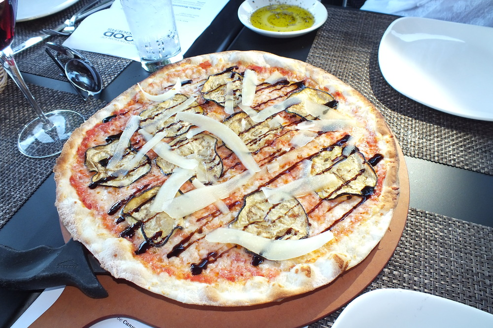 Hey, there is eggplant on this pizza and I like it!