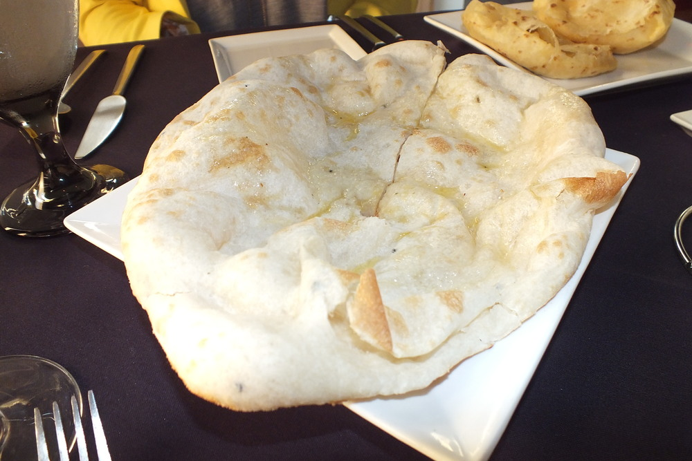 Naan, an Indian table staple