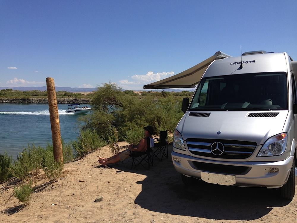 Colorado River Camping In Class B RV Luxury
