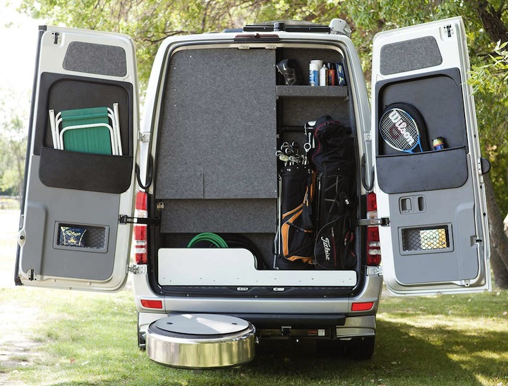 Golf clubs, luggage...you decide how to use the Mercedes' exterior storage.