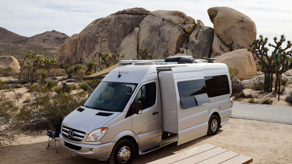 Glamping blissrv mercedes sprinter luxury camper rentals for Mercedes benz rv rentals