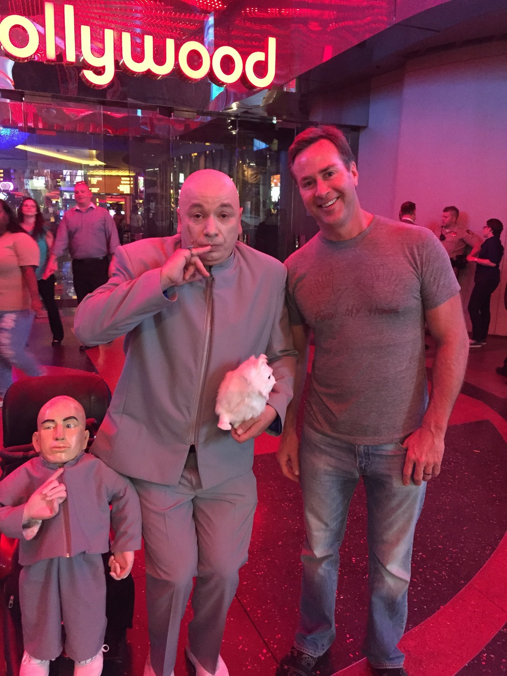 You never know who you'll meet on the Las Vegas Strip!