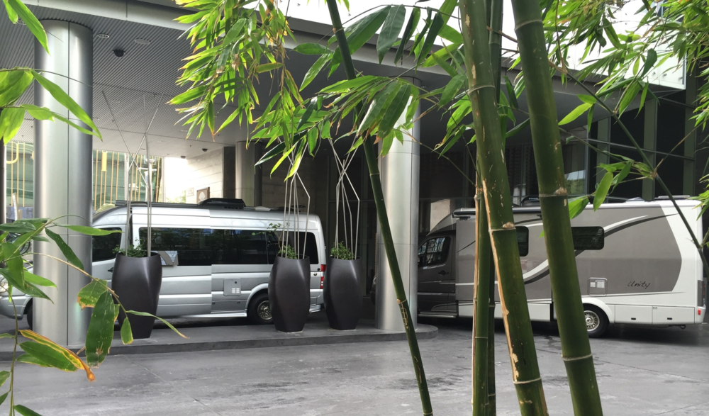 BlissRV rigs being delivered in Mandarin Oriental Las Vegas' zen setting