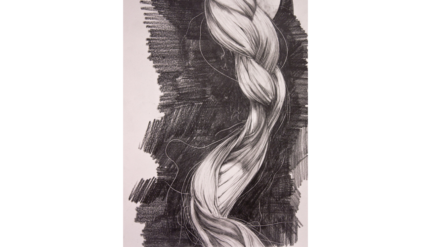 New Drawings:    To love this but not her.     Hair from a woman many will soon know, already know, or haven't taken the time to know .