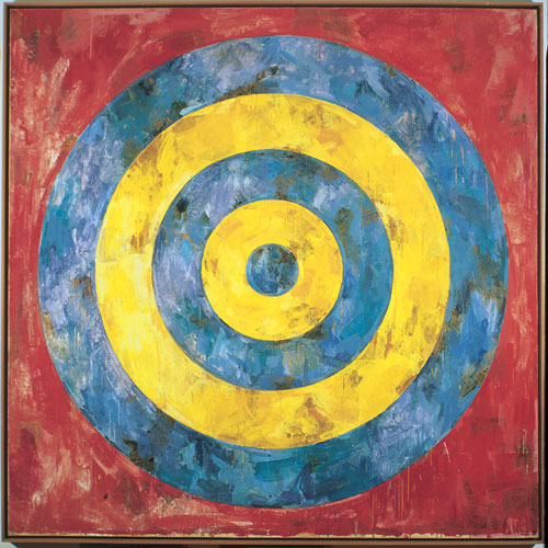 Jasper Johns' 1961  Target .      Encaustic  and collage on canvas, 66 x 66 inches. Stefan T. Edlis Collection     Yet another Scull-acquired icon. It sold in the 1973 auction for $125,000, in the middle of its $100-150,000 presale estimate, then…