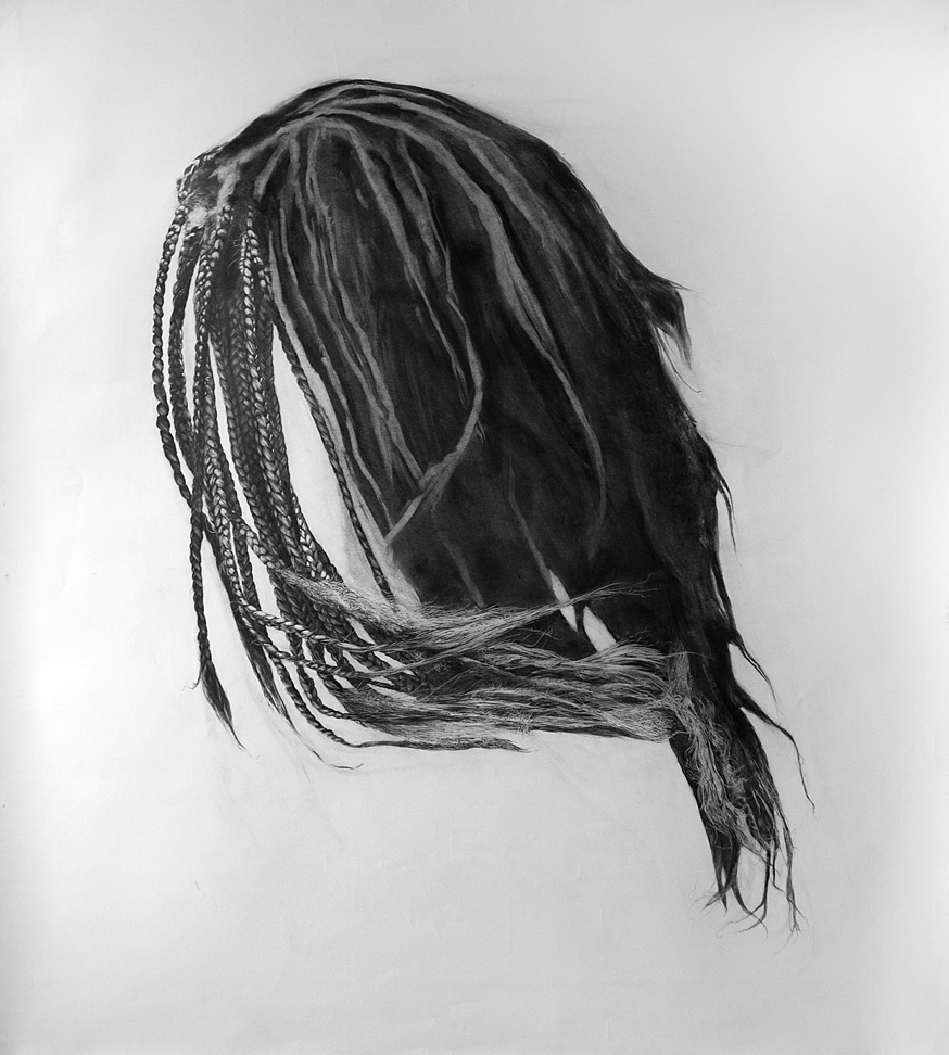 Weave - Graphite on Paper. 66 x 60 in.
