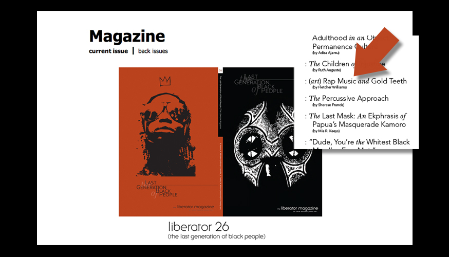 Thanks Liberator Magazine. Glad to be in the line up. http://www.liberatormagazine.com/magazine/