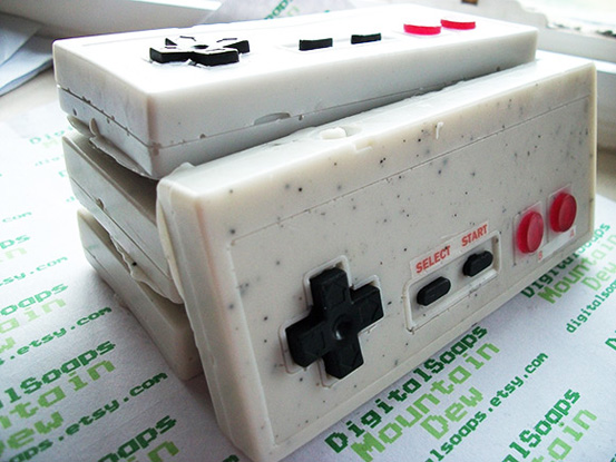 cloudy1985: Nes Controller Soap This is some pretty dope soap. I'm not sure whether to you use it or leave it on display. I would definitely invite a good lookin' gal over for a game of Contra in the shower. More importantly, great design and good choice of soap for the main part of the controller. Good texture.