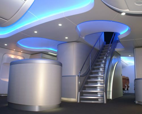 (Rendered photo of Boeing interior)   I was excited to grab a few phone numbers from some hot women at the bar of Beoing's Dreamliner but by the looks of the video below I'm not sure if it's worth it.