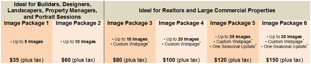 All prices are subject to change. For sessions requiring additional images, please contact me for special pricing.