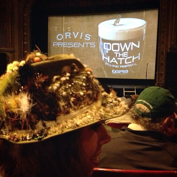 Show time! @orvis #downthehatch #ogr13 #flyfishing (at The Wilma Theater)