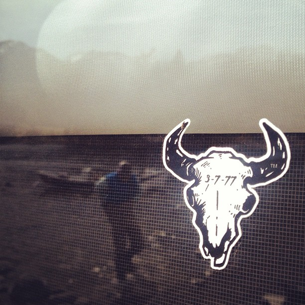 Reflection of a great weekend from a camper window. @bigskybrewing #flyfishing