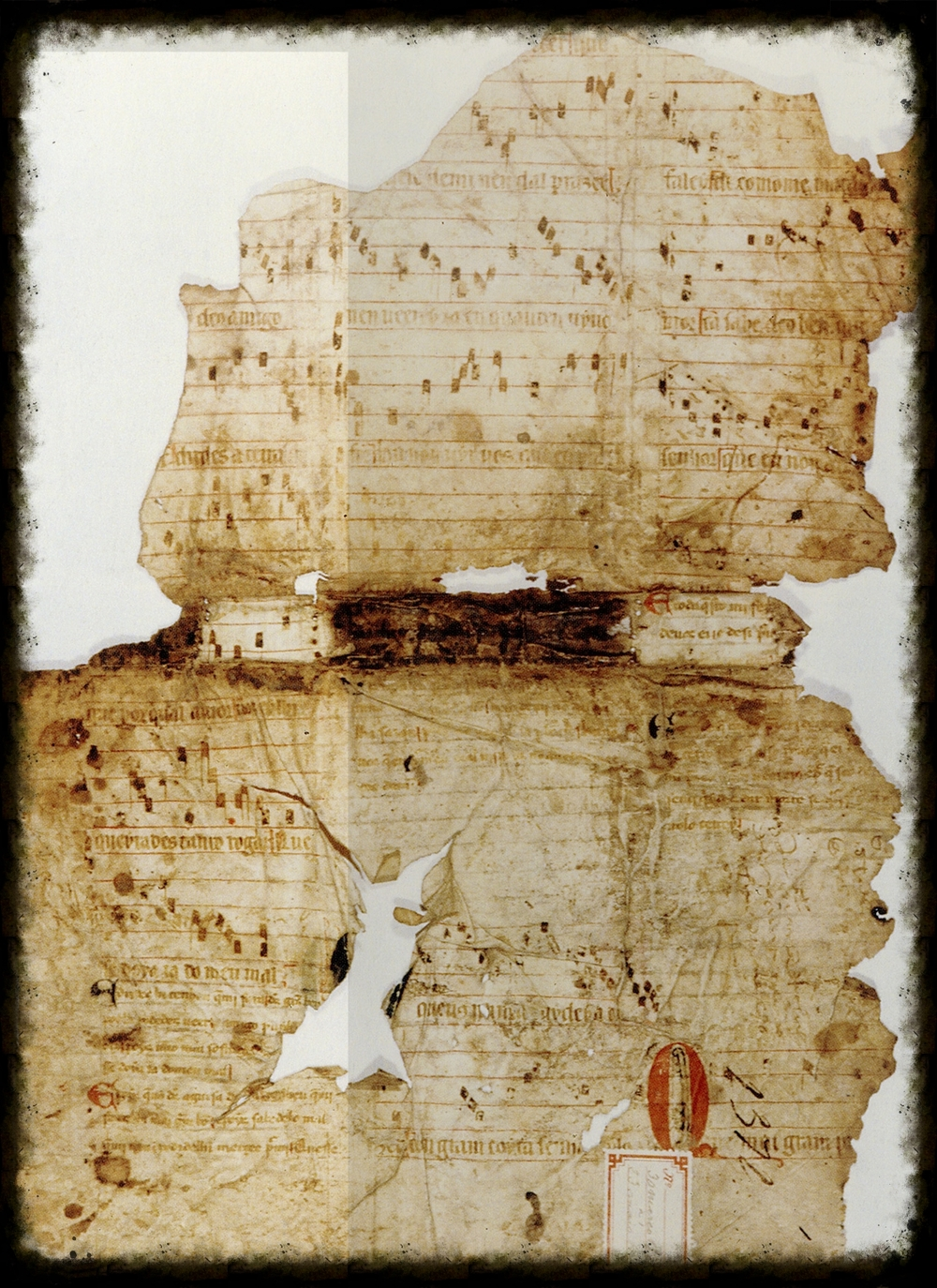 Original manuscript of Pois que vos Deus.