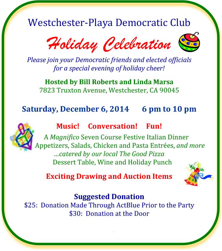 westchester playa democratic club holiday party