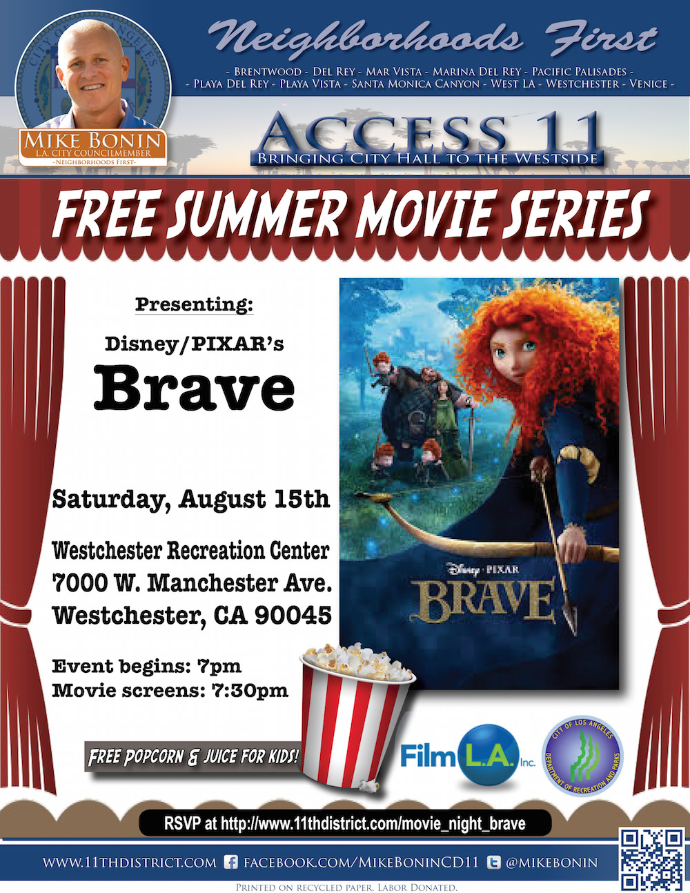 westchester bonin movie night