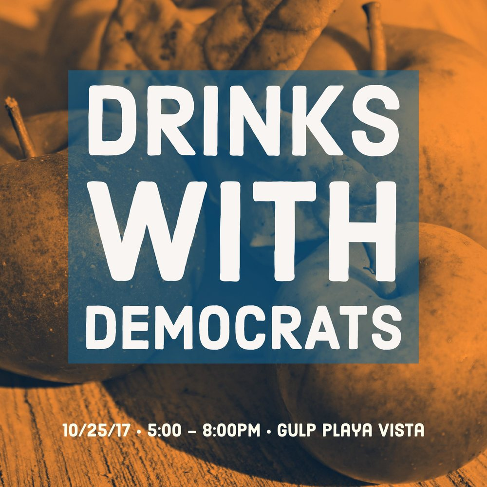 democratic club happy hour playa vista
