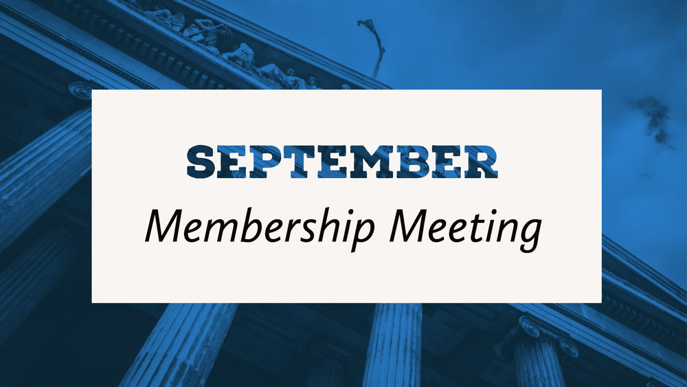 september 2018 membership meeting