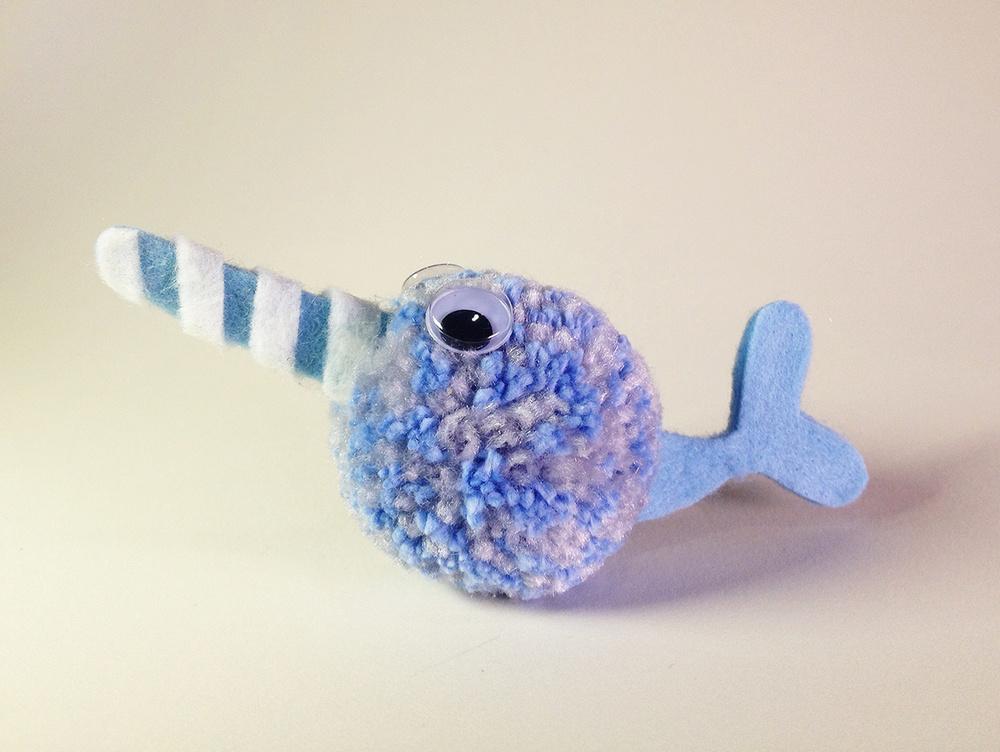 HANDMADE NARWHAL Acrylic Yarn & Felt