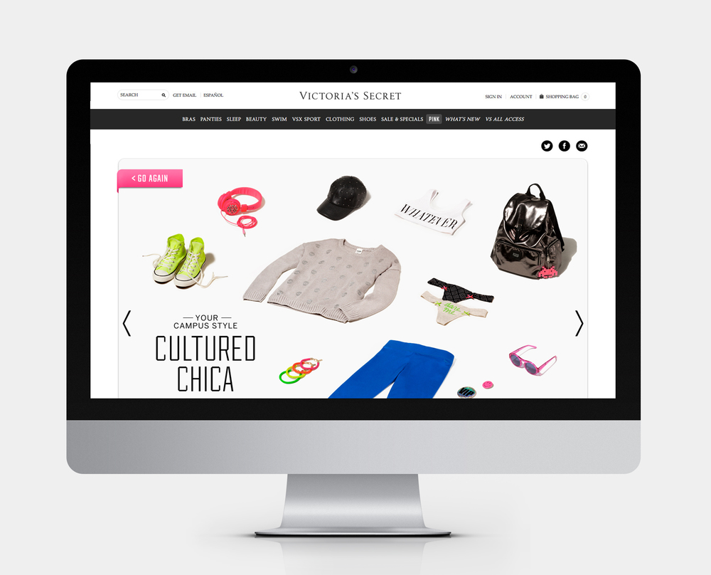 VICTORIA'S SECRET PINK CAMPUS STYLE Web Design
