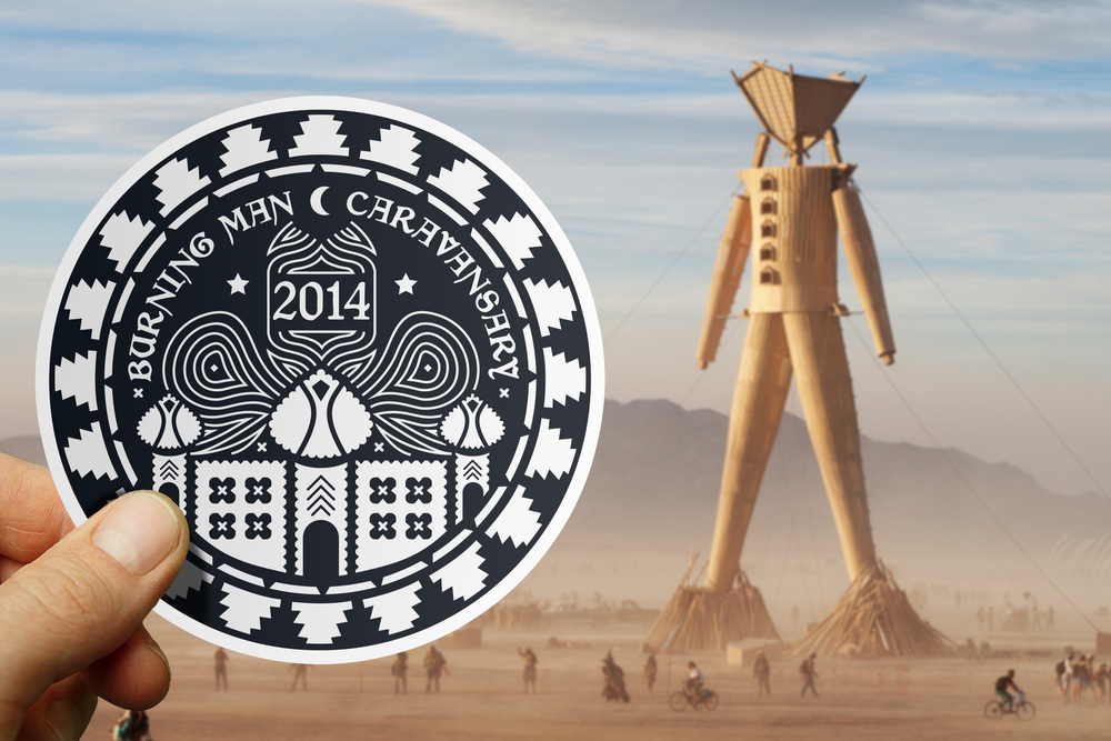 BURNING MAN   Official 2014 Sticker Design