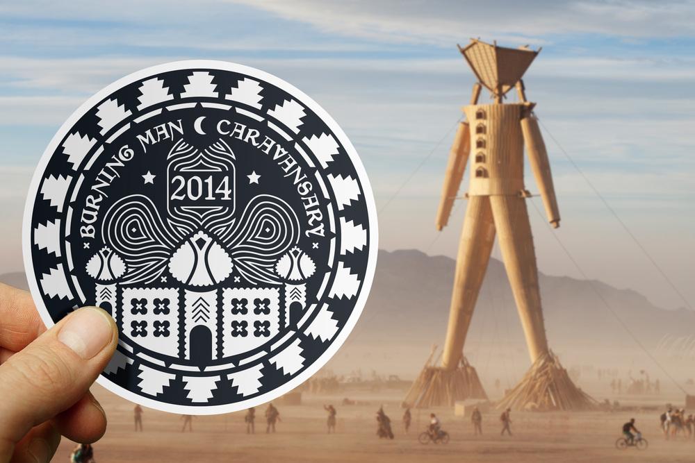 BURNING MAN Official 2014 Sticker Design