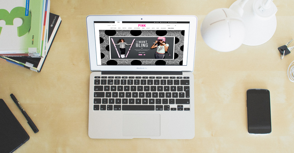 VICTORIA'S SECRET PINK HOLIDAY GIFT GUIDE   Web Design