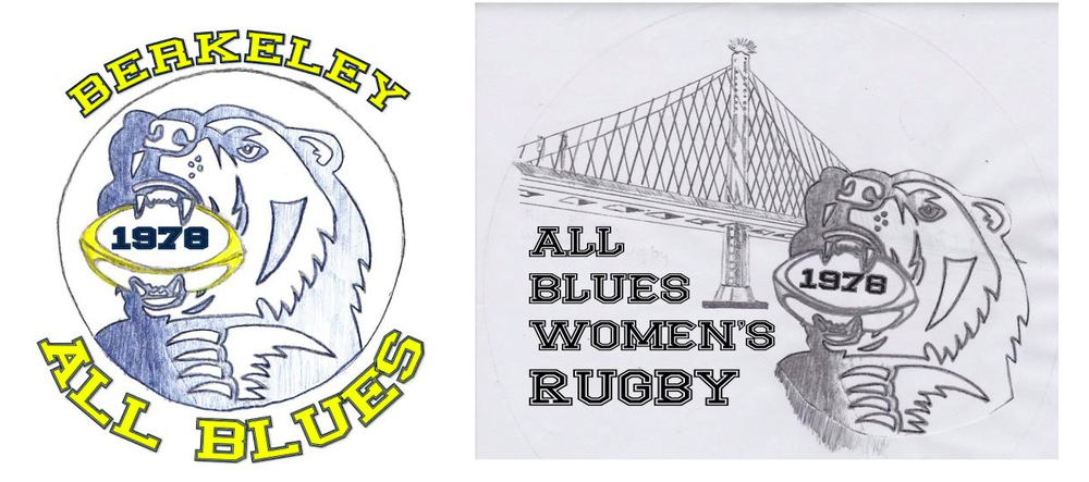 Evolution of the new team logo. LEFT: Cameo Motley's original design. RIGHT: Modified version of the original design, with the Bay Bridge added to the background.