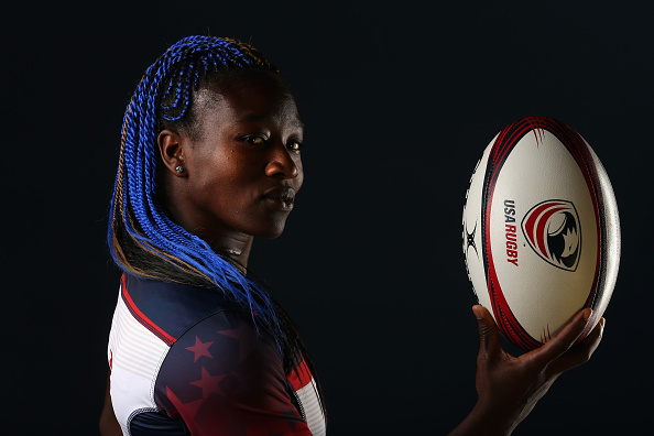 "Victoria ""Vix"" Folayan in her Team USA jersey.  She is one of three All Blues alums who represented in Rio 2016. Picture: Getty Images"