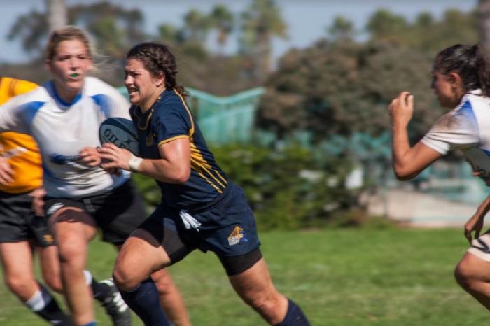 Christina breaking through the San Diego Surfers' defense during a game in the past fall WPL season. Photo: Victoria Abrenica