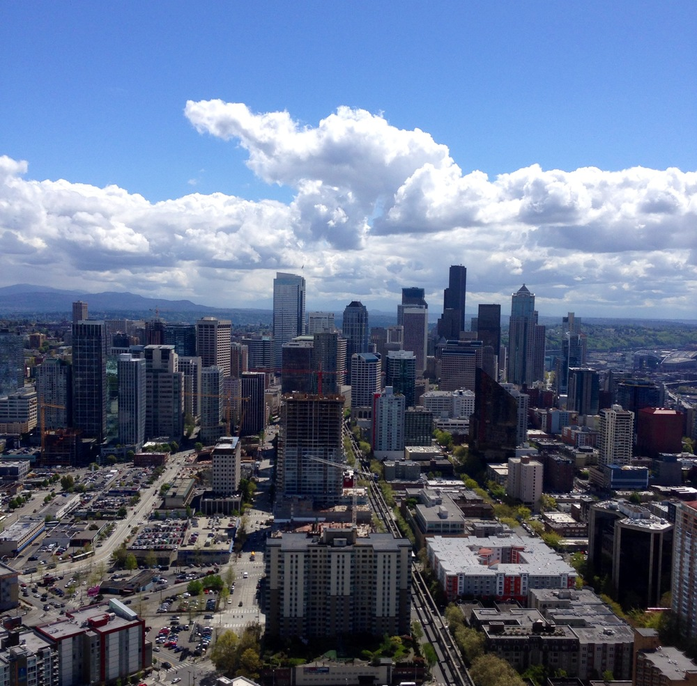 Seattle gets some rain but when it shines it's a beautiful city!