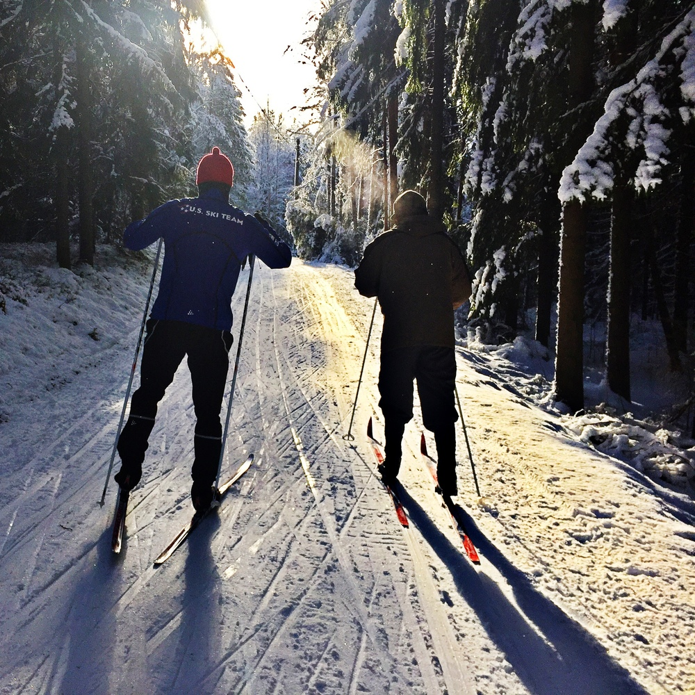 Noah Hoffman and I had an easy ski the other day so we decided to explore the tourist trails.