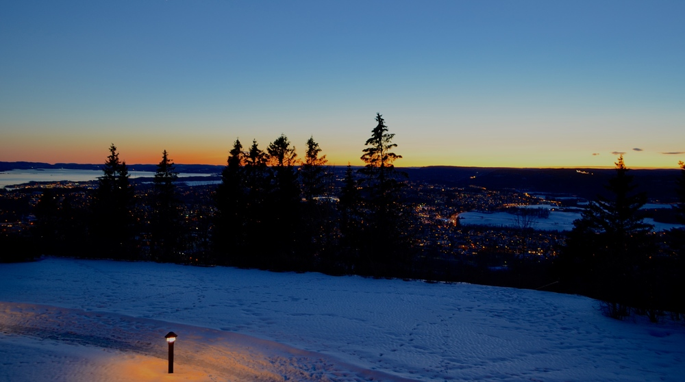 View of Oslo from the holmenkollen hotel.