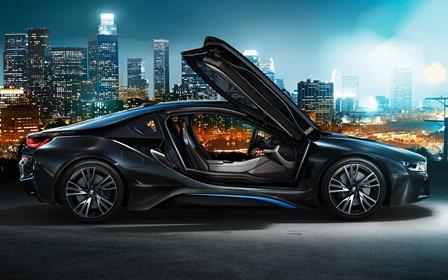 The stunning BMW i8 hybrid sports car