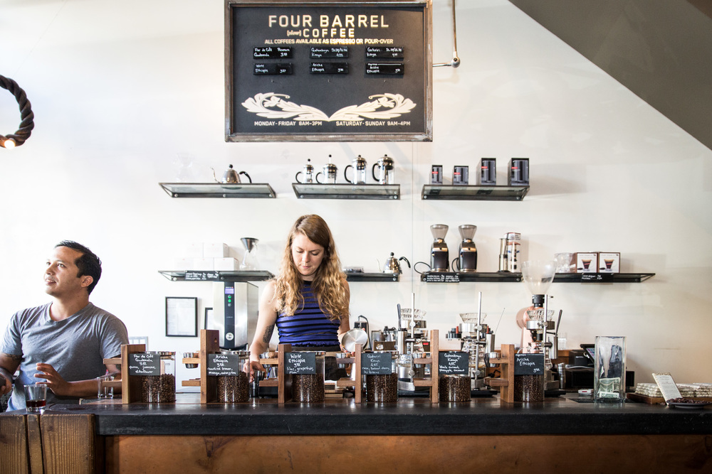 Stop by the Slow Bar for a selection of single origin espressos.