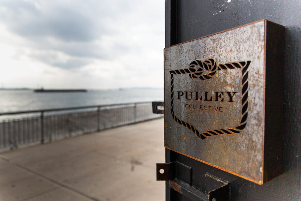 Pulley Collective sits at the southern tip of Brooklyn with an expansive view of New York Harbor.