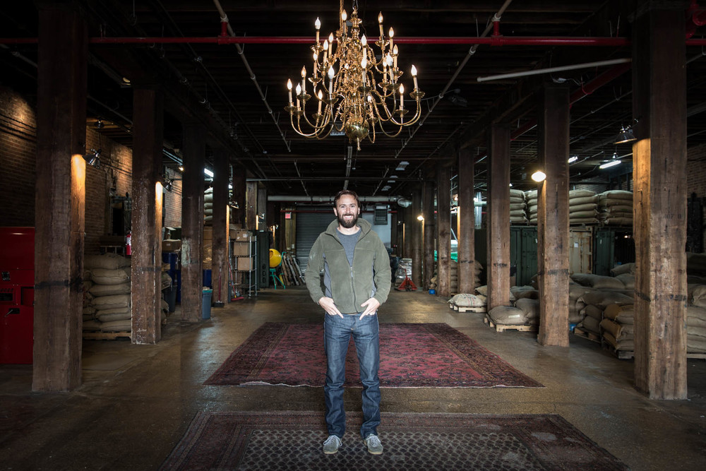 Steve Miersch, on a quiet day at Pulley Collective in Red Hook, Brooklyn.