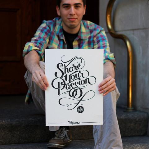 Letterpressed Poster