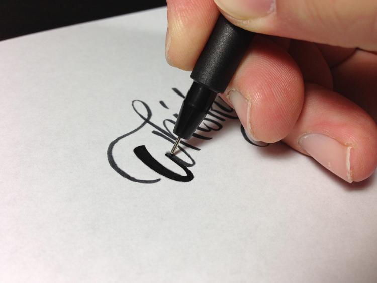 Letter Building Method Two Brush Build