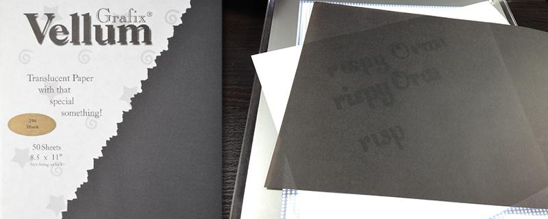 Black Vellum (Tracing Paper)