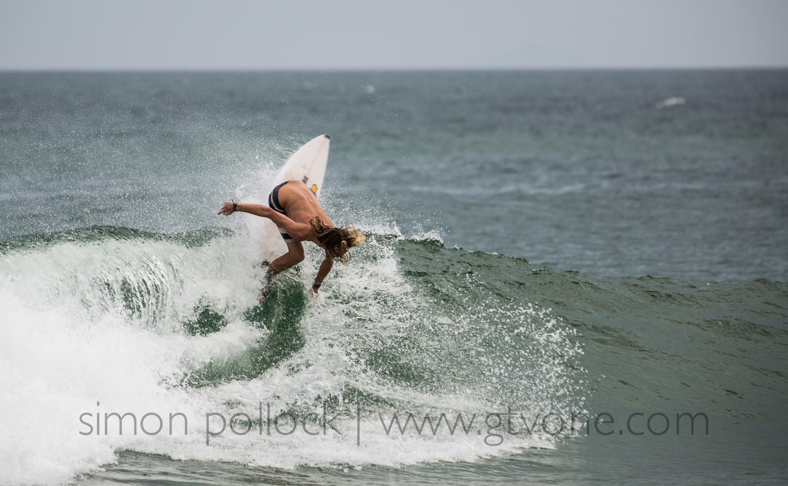 Mitch Pollard surfing Sawtell
