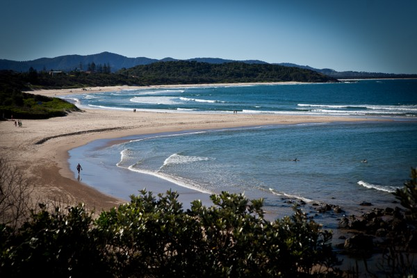 sawtell main beach by simon pollock