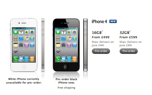 Iphone 4 price release date