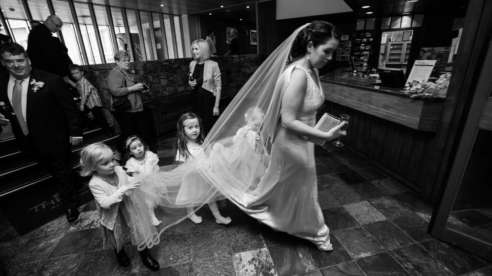 Simon Pollock Photographer Melbourne Wedding Dress Train