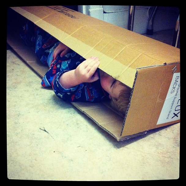 baby in a box by simon pollock