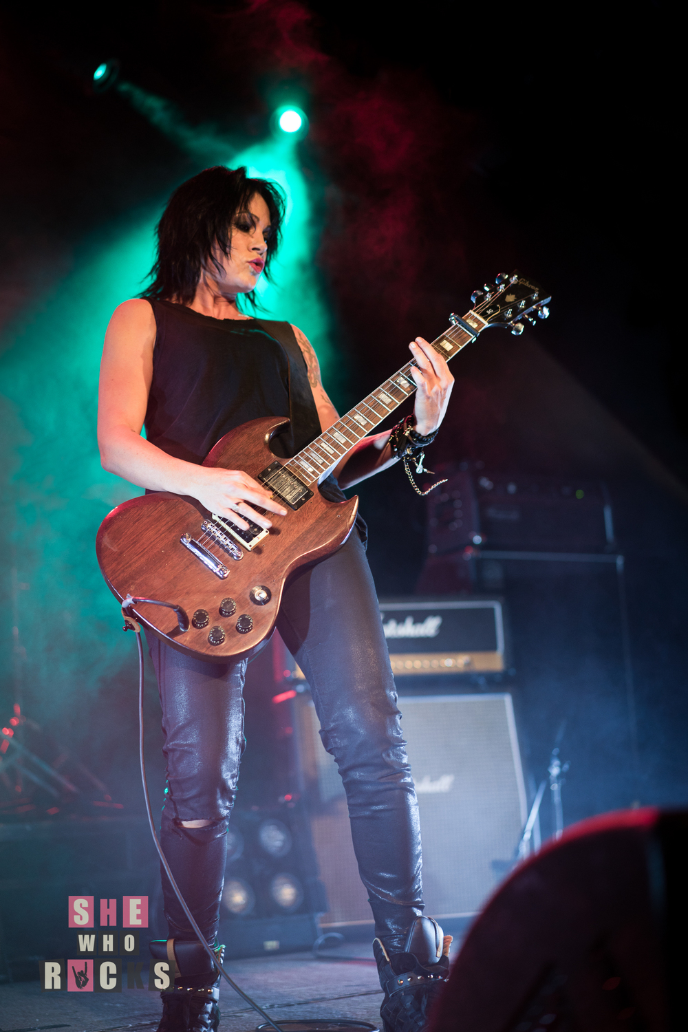 Sarah McLeod and her SG