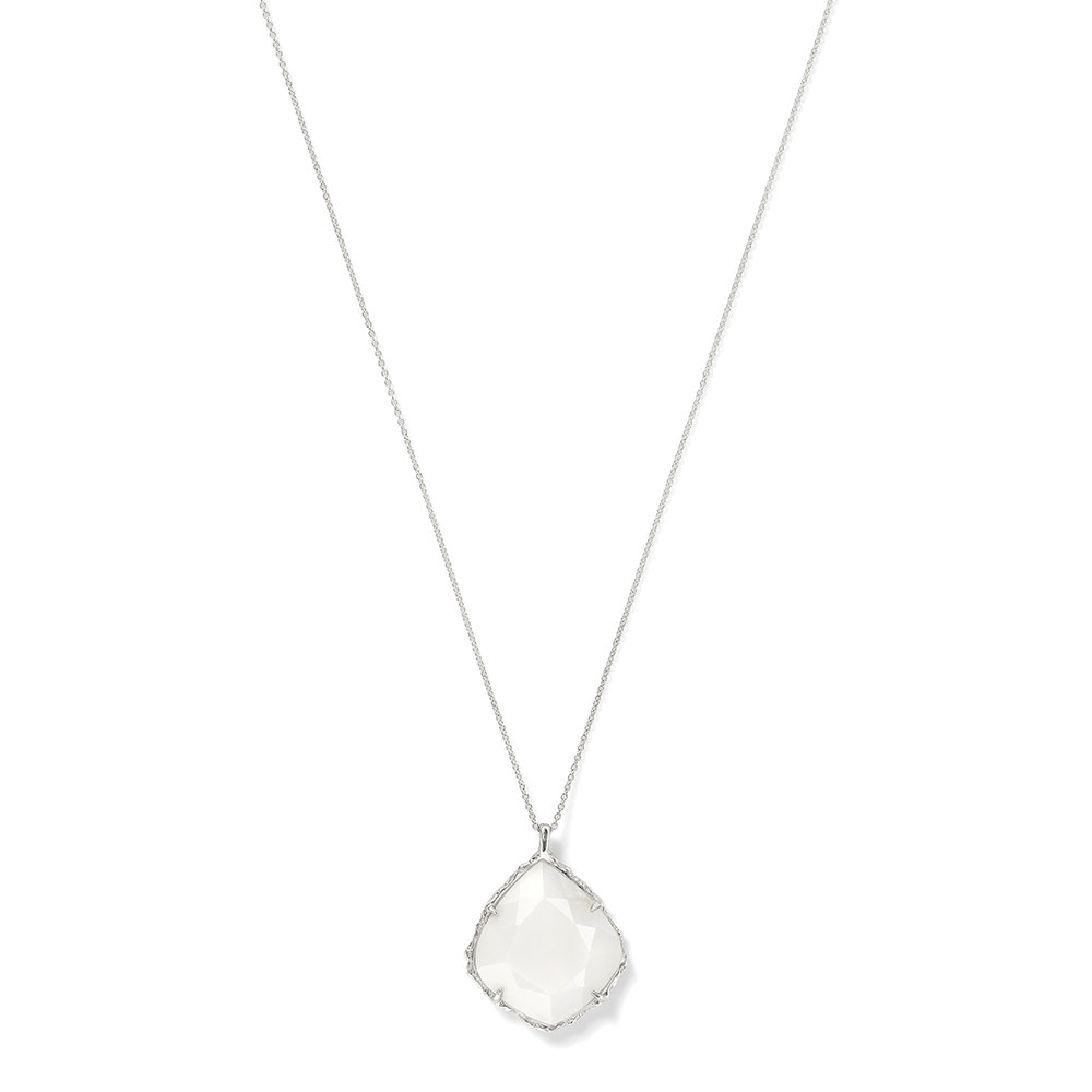 Trapezoid Necklace in White Peruvian Opal