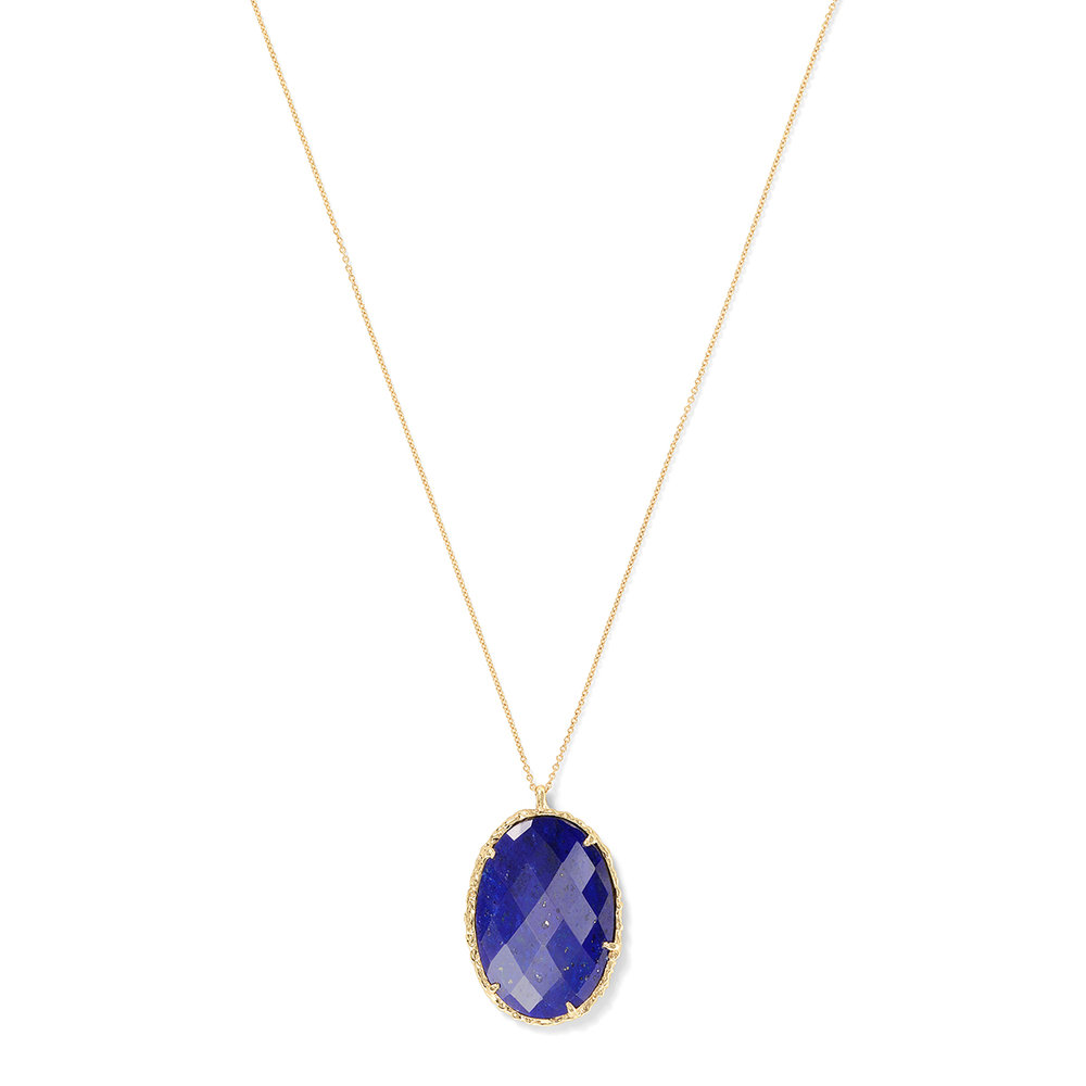Oval Necklace in Lapis